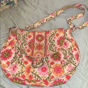 Vera Bradley saddle bag
